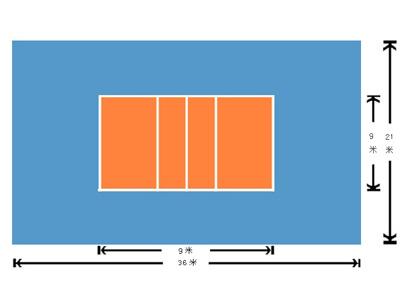 排球场地效果图高清图片